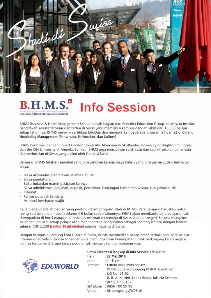 BHMS Business and Hotel Management School - Info Session